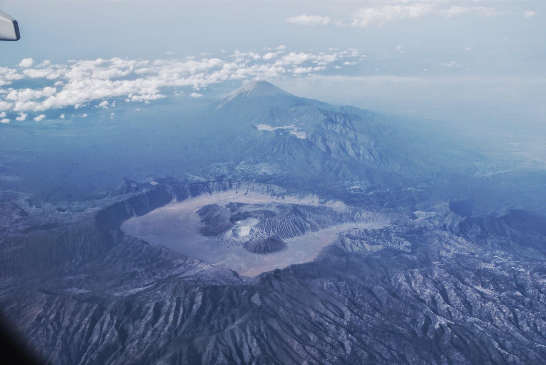 Jawa - wulkan Bromo z samolotu