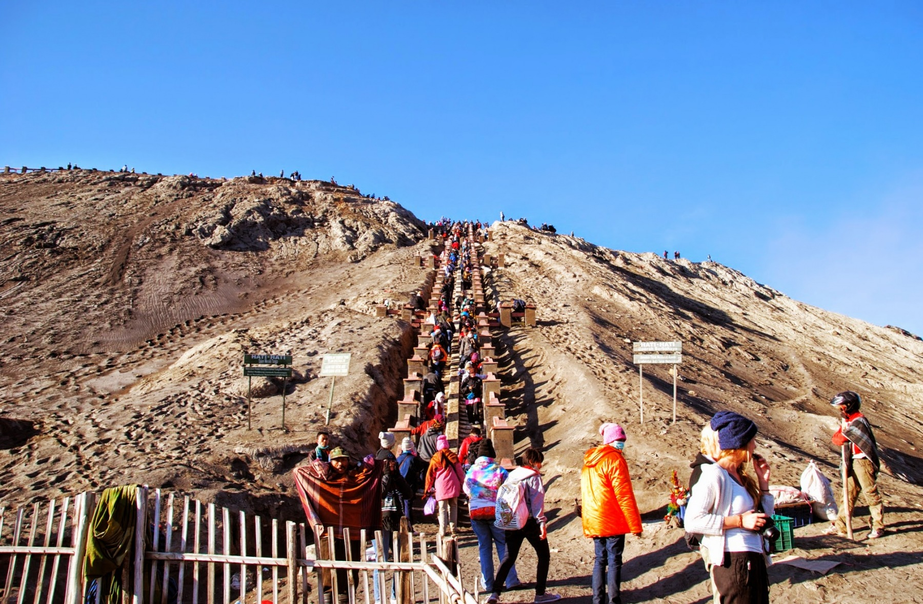 Wulkan Bromo - wejście na stożek
