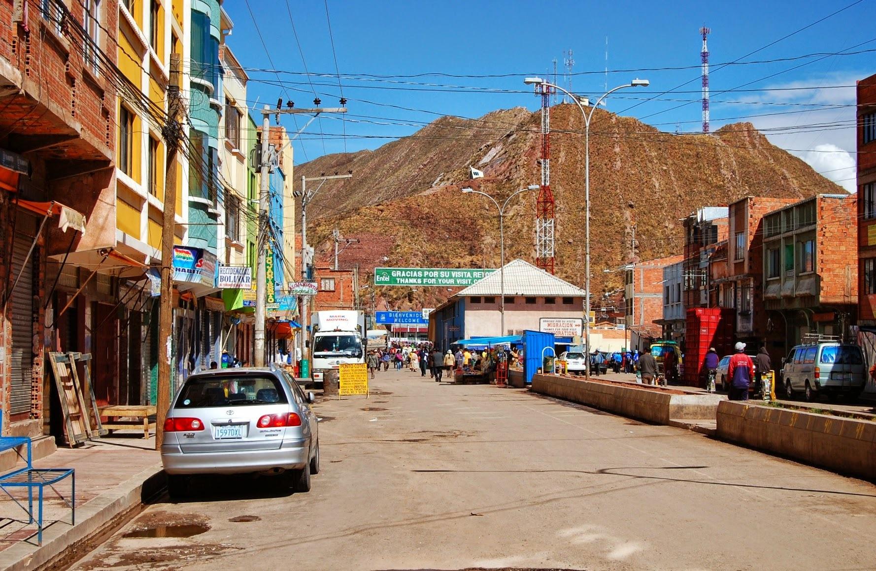 Desaguadero - granica z Boliwią