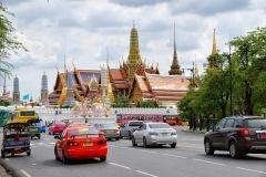 Tajlandia - Bangkok - Widok na kompleks świątynny Wat Phra Kaew