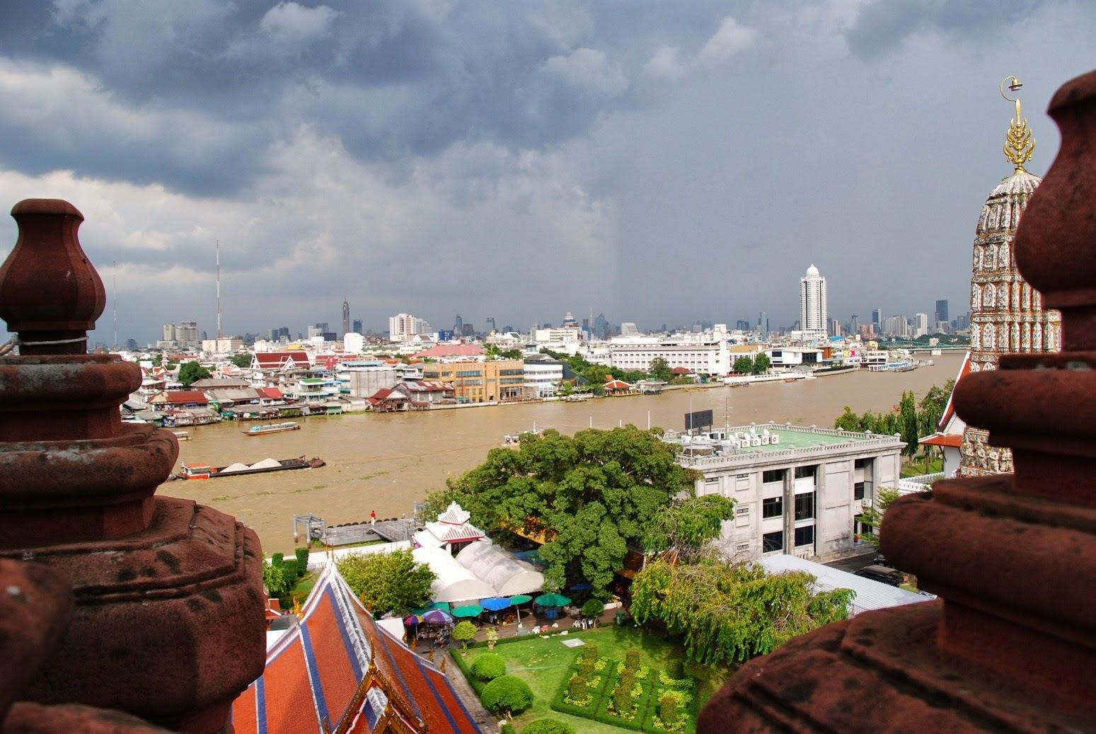 Tajlandia - Bangkok - Widok z Wat Arun