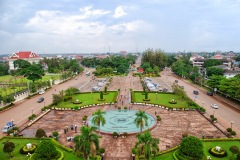 Laos - Vientiane - Widok z Patuxai