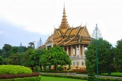Kambodża - Phnom Penh - Zabudowania Pałacu Królewskiego